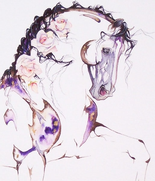 Sarah Lynn Richards - The Gallery: Original Equestrian Watercolor Paintings.... Would make a gorgeous tattoo