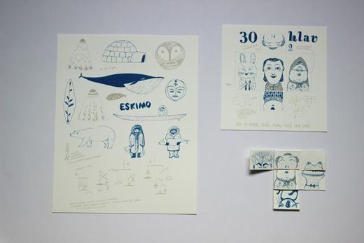NaPOLI - skládačky v prodeji v papelote / www.papelote.cz / paper, toys, illustration