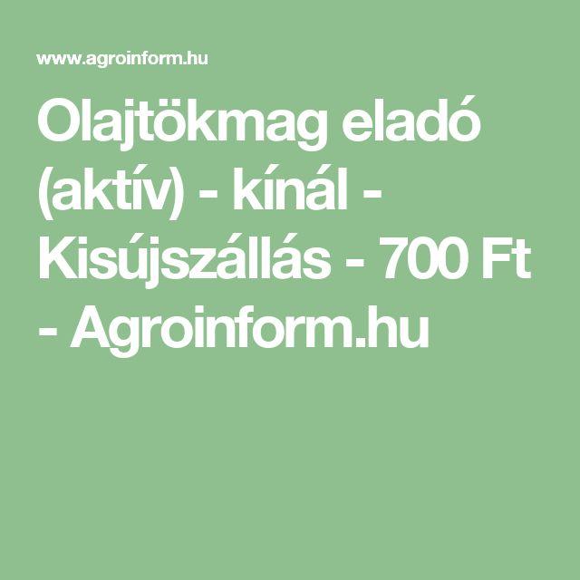 Olajtökmag eladó (aktív) - kínál - Kisújszállás - 700 Ft - Agroinform.hu