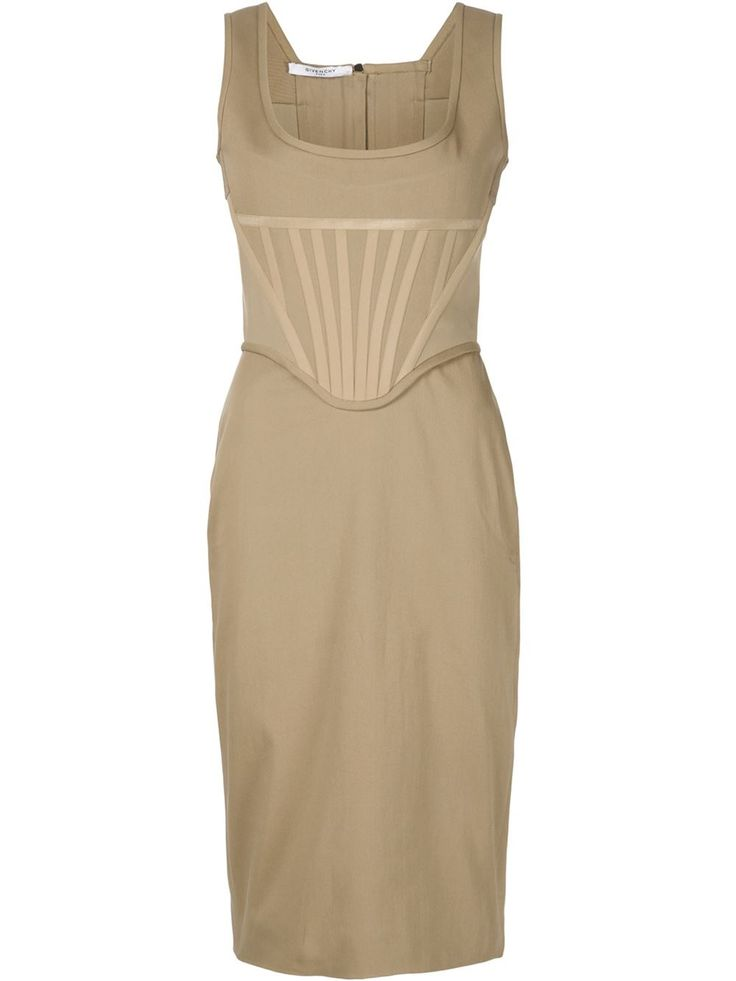 Givenchy облегающее платье-бюстье