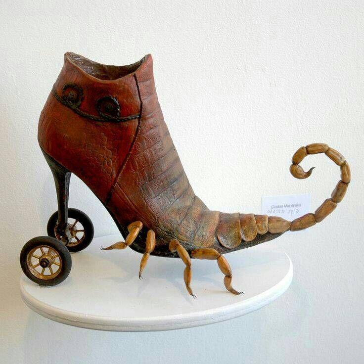 Смешные рисунки с обувью, дню