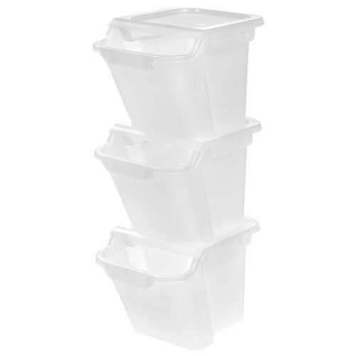 Found it at Wayfair - Recycle Storage 3-Piece Plastic Trash Can Set