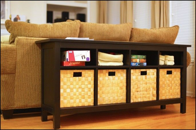 Sofa Table with Baskets