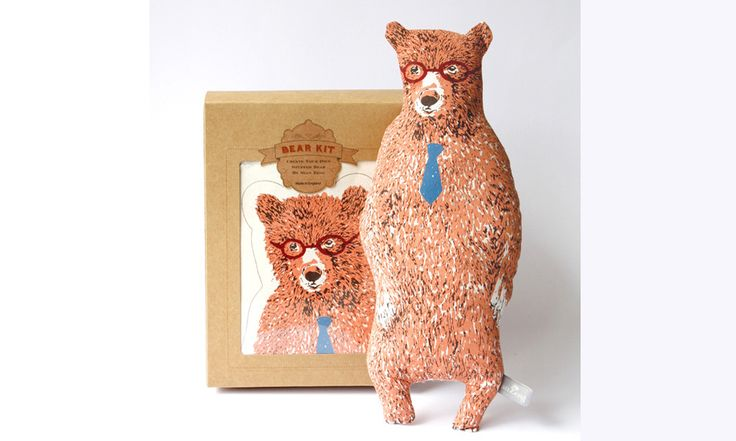 Sian Zeng — Bear Kit with Glasses and Tie (Pink)