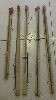 vintage ice fishing tip ups lot of 5 (#2) fishing traps
