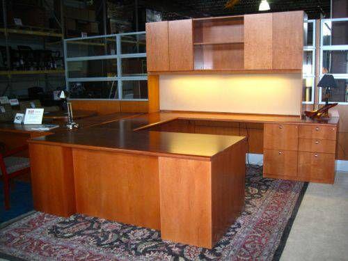Executive Tuohy U Shaped Desk With Credenza Amp Hutch In