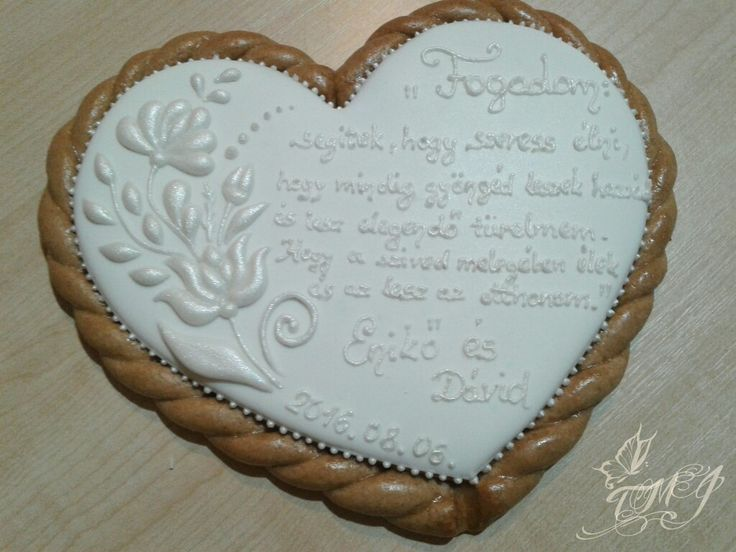 White on white wedding cookie by TMJcreative.