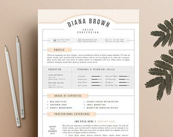 Modern Resume & Cover Letter Template Editable word by ProfiliaCV