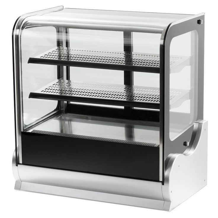 """Vollrath 40866 48"""" Cubed Glass Heated Countertop Display Cabinet"""