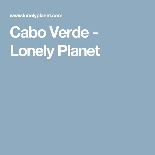 Cabo Verde - Lonely Planet