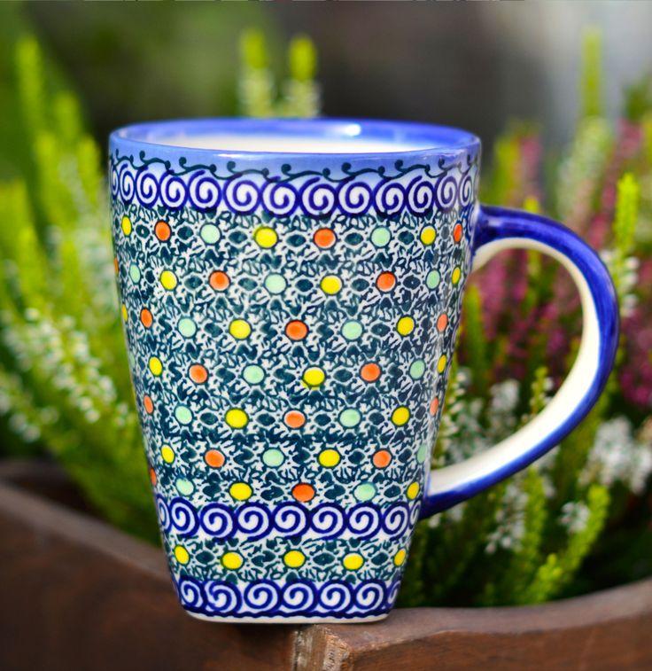 Ceramic mug. Decoration NEON.