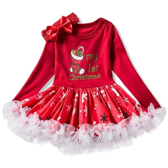 Winter Infant Kids Baby First Christmas Girl Clothes Sets Costume Newborn Baby Clothing Sets Toddler Bebes Outfits Pajamas Wear