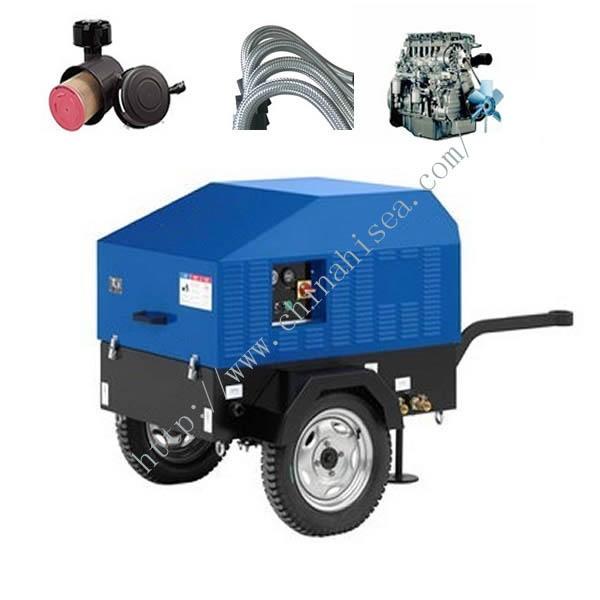 7 Bar Small Screw Portable Diesel Driven Air Compressor