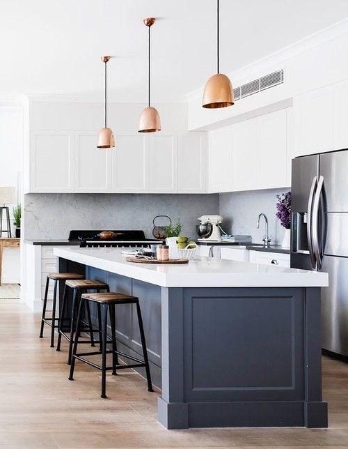 Best Alpine White And Tornado Grey White Modern Kitchen 400 x 300