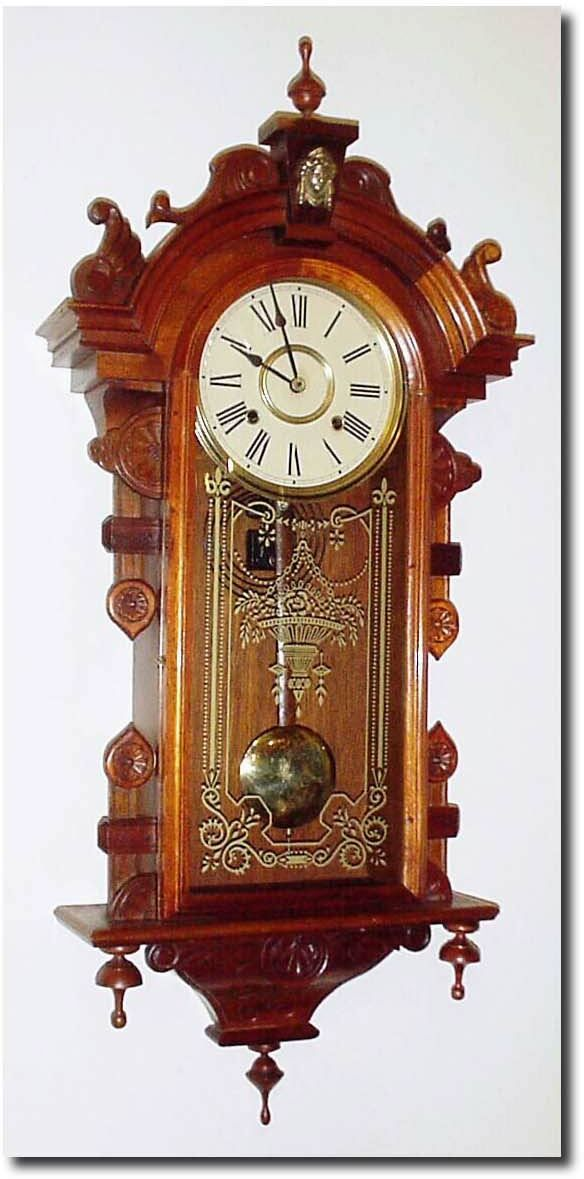 antique unsigned columbia model clock blank wall clock frei