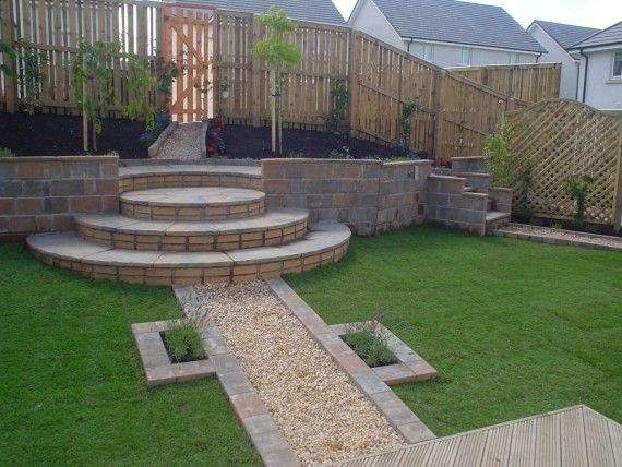 Retaining Wall Design | ... design; including circular paving , a simple flat wood deck design and