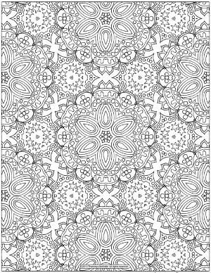 Free Abstract Patterns Coloring Page for Grown-Ups by proteamundi