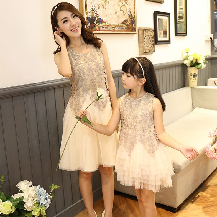 Family clothing New fashion Brand mother daughter ball gown dresses matching family look mom and daughter lace party mesh dress #>=#>=#>=#>=#> Click on the pin to check out discount price, color, size, shipping, etc. Save and like it!