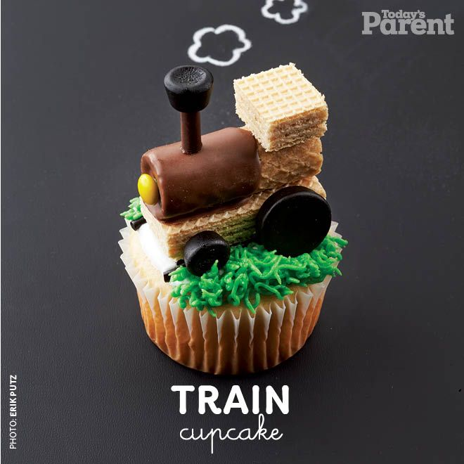 Train - We've whipped up a month's worth of cupcake decorating ideas for our 30th birthday, because we think every day calls for adorable desserts!