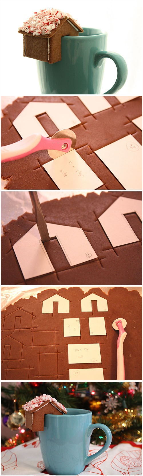 cute gingerbread house idea. Link doesn't lead to it and I couldn't find it, but love the idea. Should be easy to figure out.