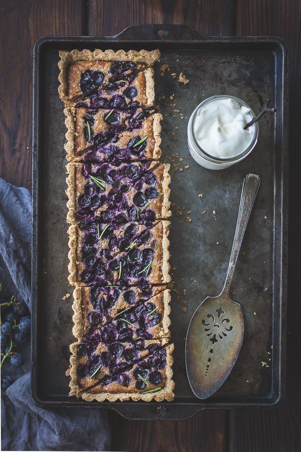 The Bojon Gourmet: Concord Grape + Walnut Frangipane Tart with a Gluten-Free Rosemary Crust
