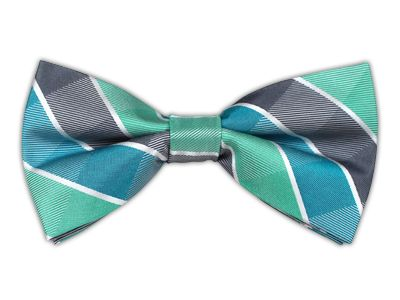 Pre tied bow tie - White dots on mint coloured twill Notch