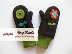 Kinder Fäustlinge, Handschuhe nähen I Kostenloses Schnittmuster únd Nähanleitung für Kinderhandschuhe aus Fleece