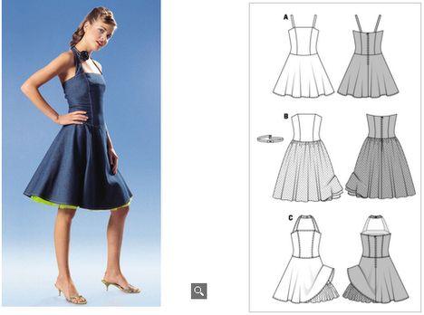 petticoat kleid schnittmuster