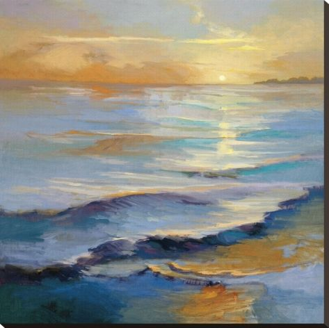 Ocean Overture Stretched Canvas Print by Vicki Mcmurry at Art.com