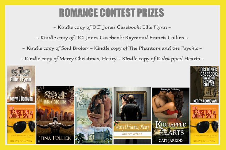 Event Contest posted by Michaela Miles: Hi everyone,   Kerry's asked me to post this next contest, because he thinks he doesn't have a romantic bone in his body. Not true in my opinion as Frank and Jenny make quite the couple, and in that spirit we have a romance prize pack for a little romantic-themed contest (to be announced on the day).