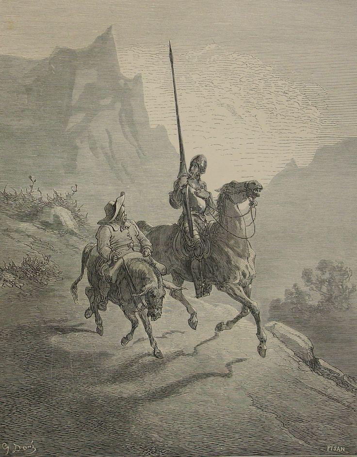Miguel de Cervantes Saavedra, El ingenioso hidalgo don Quijote de la Mancha, 1863. Libro. Ilustrado por Doré.