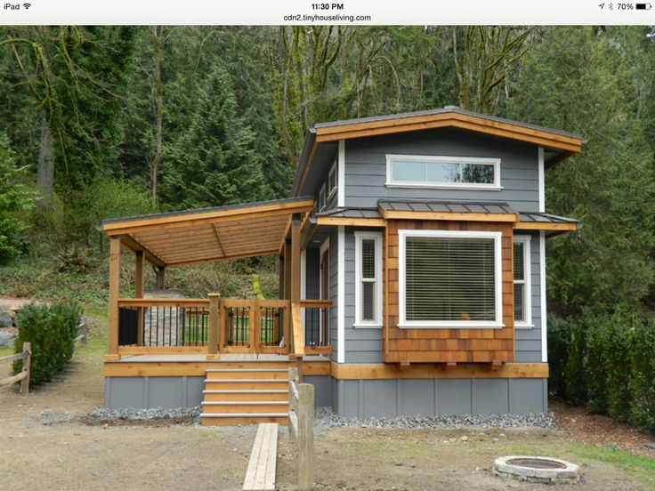Lovely Tiny House And Awesome Covered Deck
