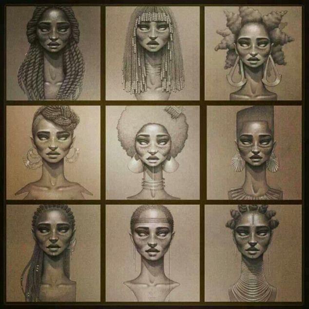 Naturally Beautiful Unknown Artist Bodyart African Body Art