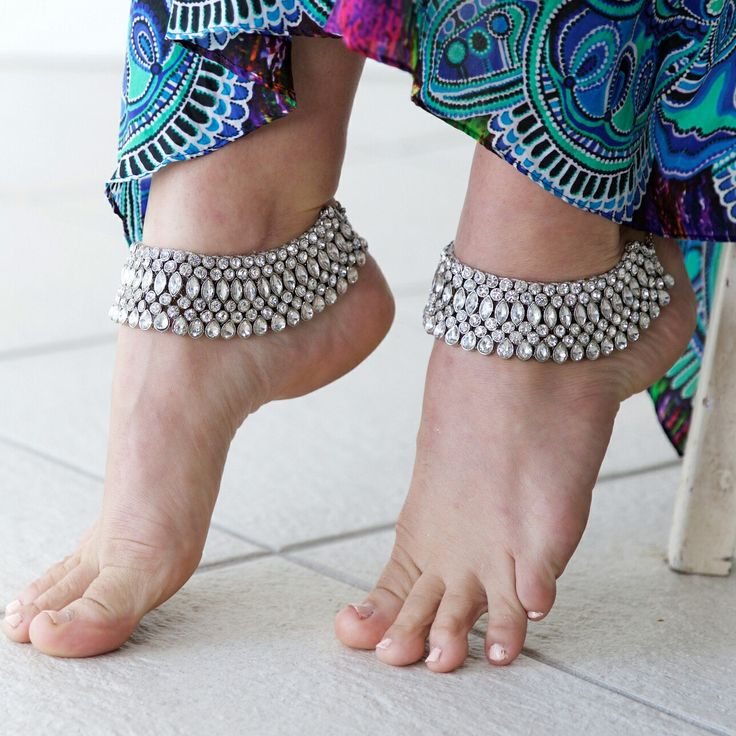 Gorgeous Indian wedding anklets in store now! 😊