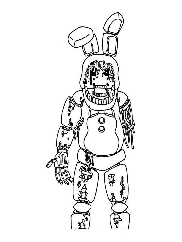 5 Nights At Freddy S Bonnie Coloring Pages Com Imagens Pintar