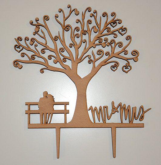 Rustikale Hochzeitstorte Topper  personalisierte Monogramm