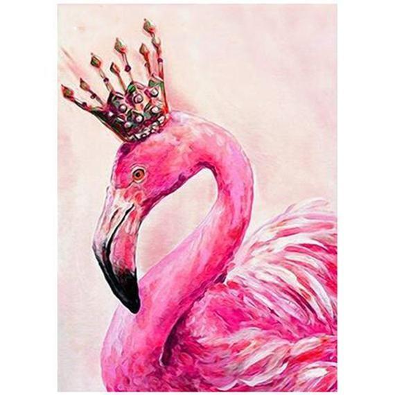 DIY 5D Diamond Painting Flamingos Cross Stitch Rhinestone Decoration Needlework