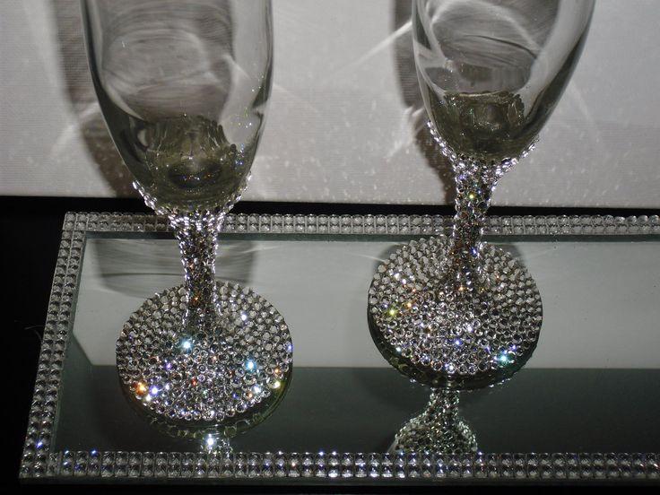 wine glass bling crafts pinterest wine glass. Black Bedroom Furniture Sets. Home Design Ideas