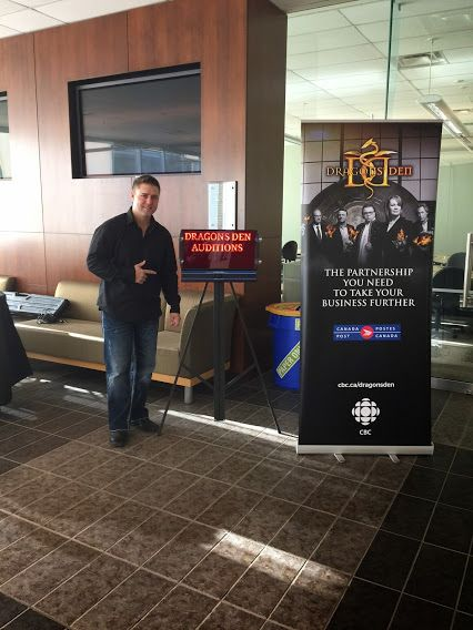 Verbalized's CEO Peter McGie takes the wireless LED message board to the Dragon Den auditions in Calgary Alberta.  #cbcdragonsden #calgary #tech #canada