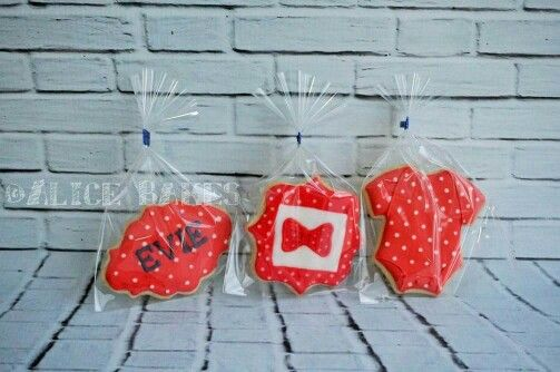 Red and white theme cookies!