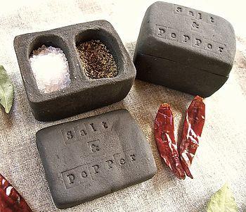 ceramic salt and pepper pot by little brick house ceramics | notonthehighstreet.com