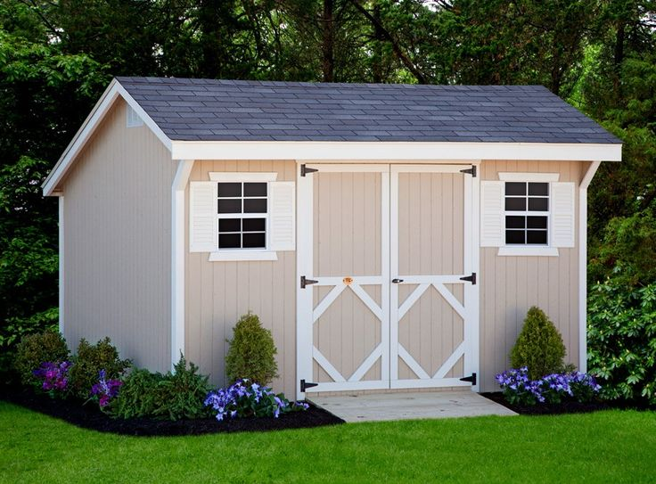 Yard Shed - Cute landscaping idea for our shed.