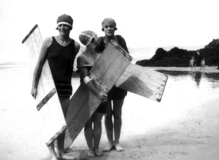 Surfers in North Cornwall used 'coffin lid' surfboards made in Perranporth by undertaker T...