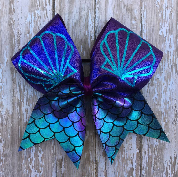 Mermaid Cheer Bow by LetThemWearBowz on Etsy https://www.etsy.com/listing/461438924/mermaid-cheer-bow
