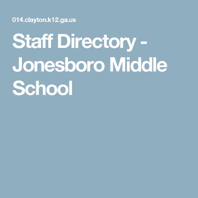 Staff Directory - Jonesboro Middle School