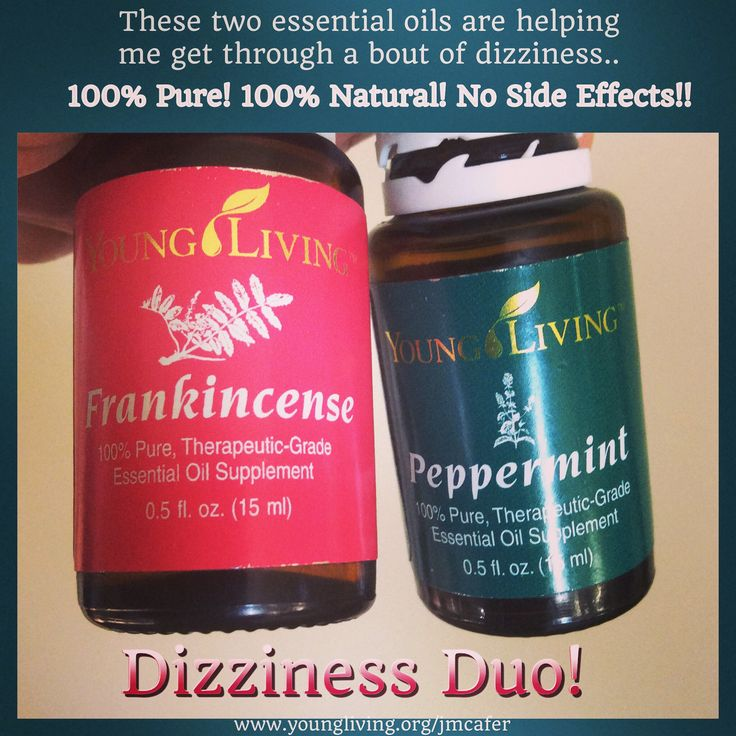 A PINNER SAID....Vertigo is no fun!! I am so thankful for 100% pure Young Living Essential Oils! No side effects! These 2 oils are part of the Premium Starter Kit.. #health