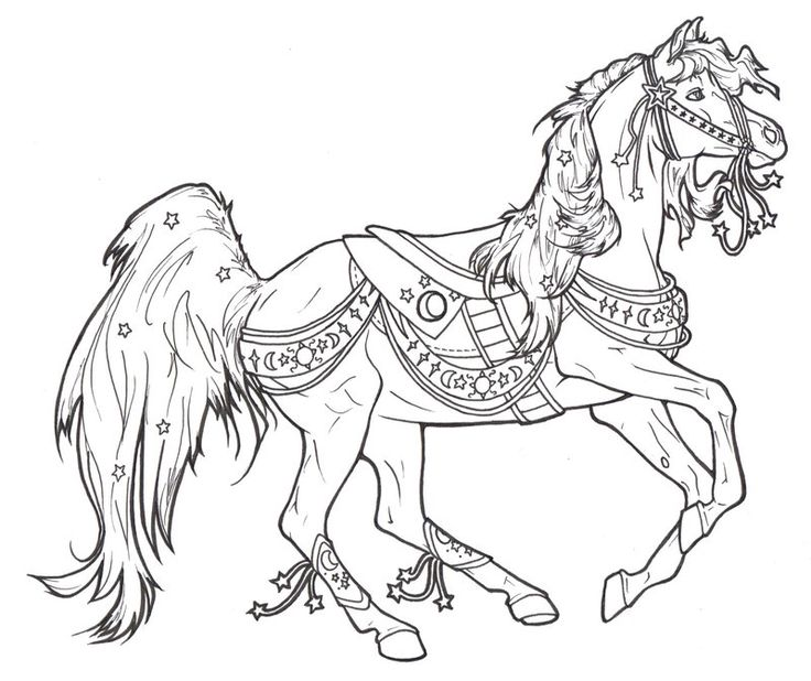 carousel horse celestial by requay on deviantart horse coloring pagesadult