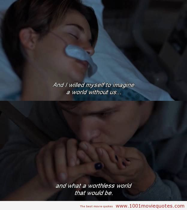 quotes from the fault in our stars movie - Google Search