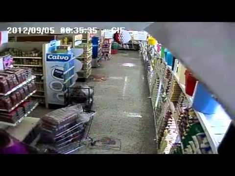 Terremoto Costa Rica 5 de Septiembre del 2012 Cámaras de seguridad Estabilizadas - YouTube