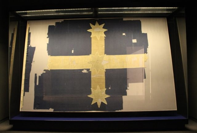 The original Eureka Flag, Ballarat, Victoria